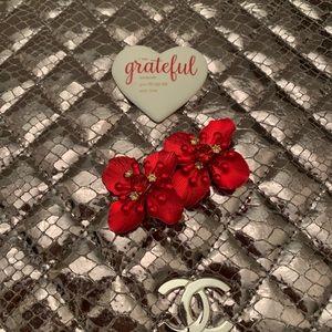 Red Flowers earrings